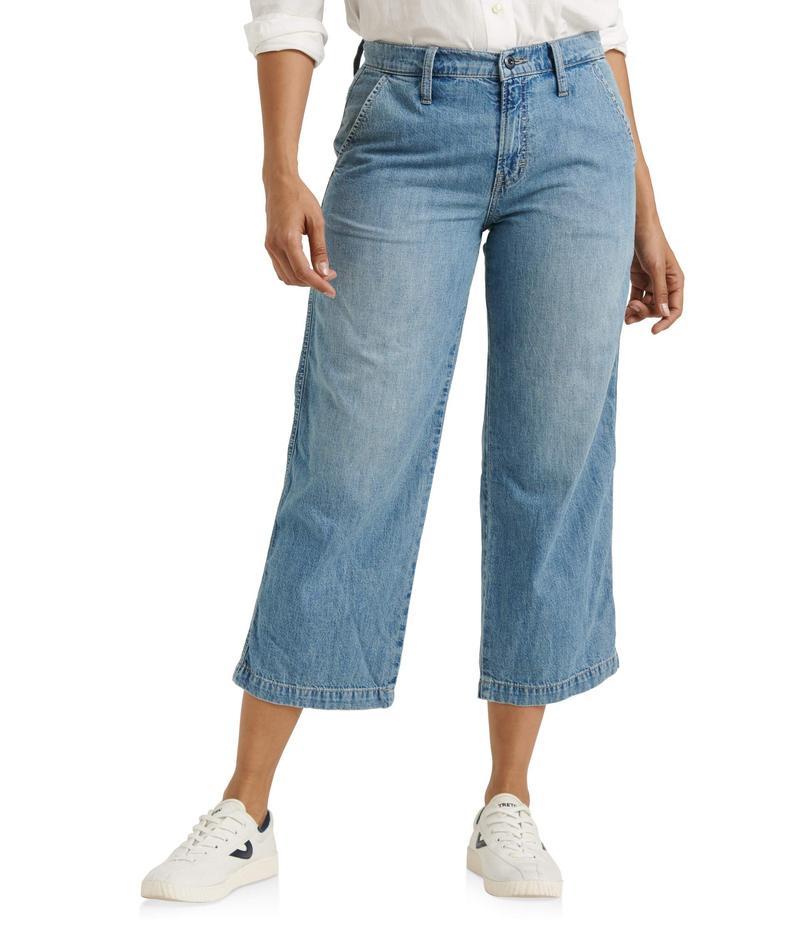 ラッキーブランド レディース デニムパンツ ボトムス Mid-Rise Crop Wide Leg Jeans in Garford Garford
