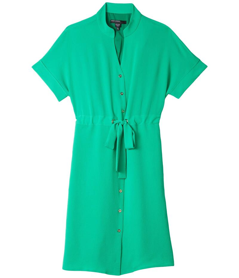 マギーロンドン レディース ワンピース トップス Easy Dolman Sleeve Grommet Dress Basil Green