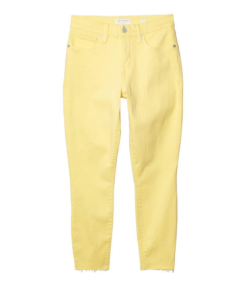 ラッキーブランド レディース デニムパンツ ボトムス Mid-Rise Ava Skinny Ankle Jeans in Mellow Yellow Mellow Yellow