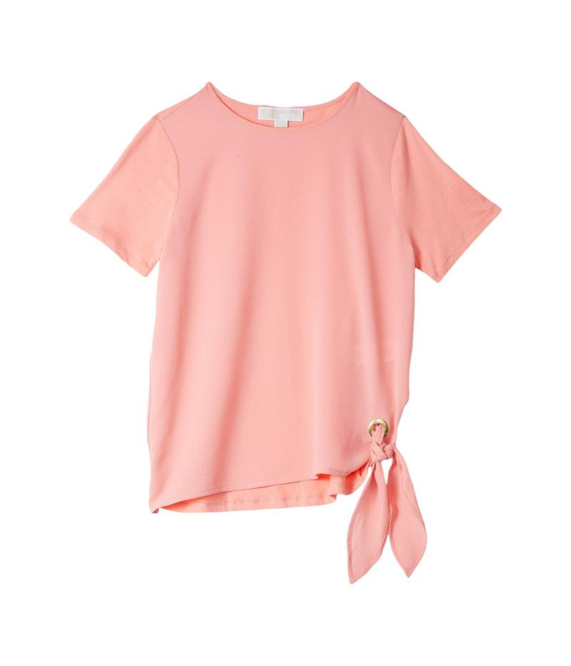 マイケルコース レディース シャツ トップス Petite Woven Mix Tie Short Sleeve Tee Desert Flower