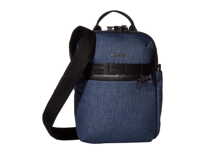 パックセーフ メンズ ハンドバッグ バッグ Metrosafe X Vertical Anti-Theft Crossbody Bag Dark Denim