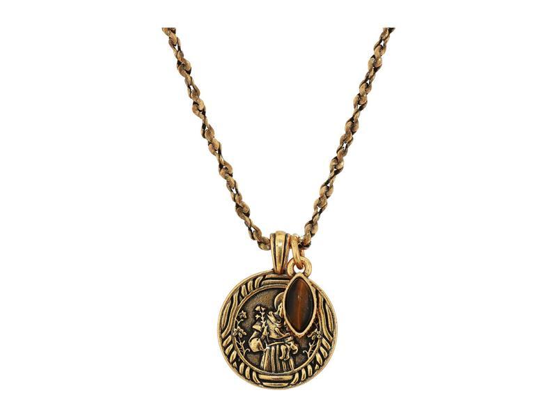 アレックスアンドアニ レディース ネックレス・チョーカー・ペンダントトップ アクセサリー Saint Anthony Duo Charm Adjustable Necklace Gold