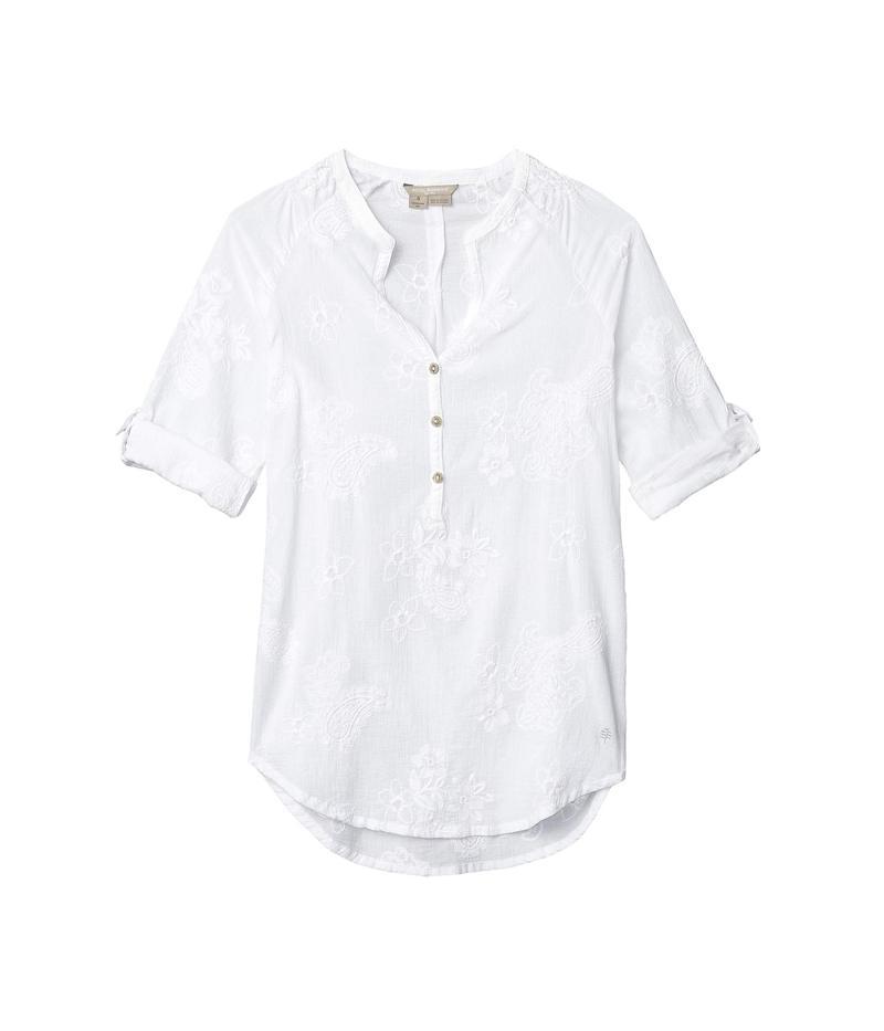ロイヤルロビンズ レディース シャツ トップス Oasis 3/4 Sleeve Tunic II White