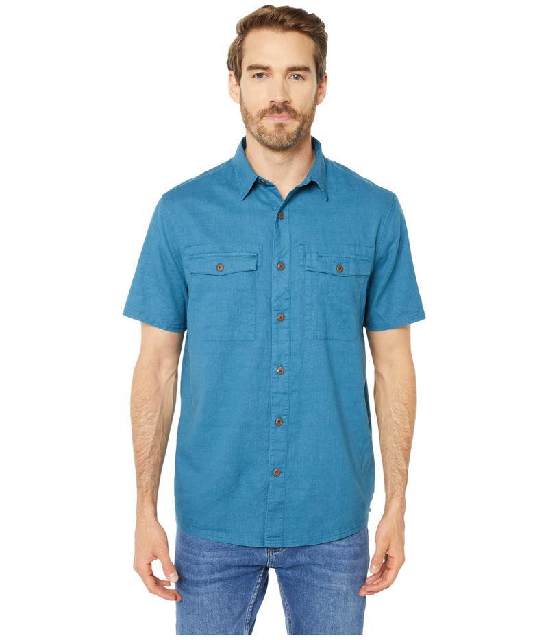 ロイヤルロビンズ メンズ シャツ トップス Seaview Hemp Short Sleeve Shirt Midnight