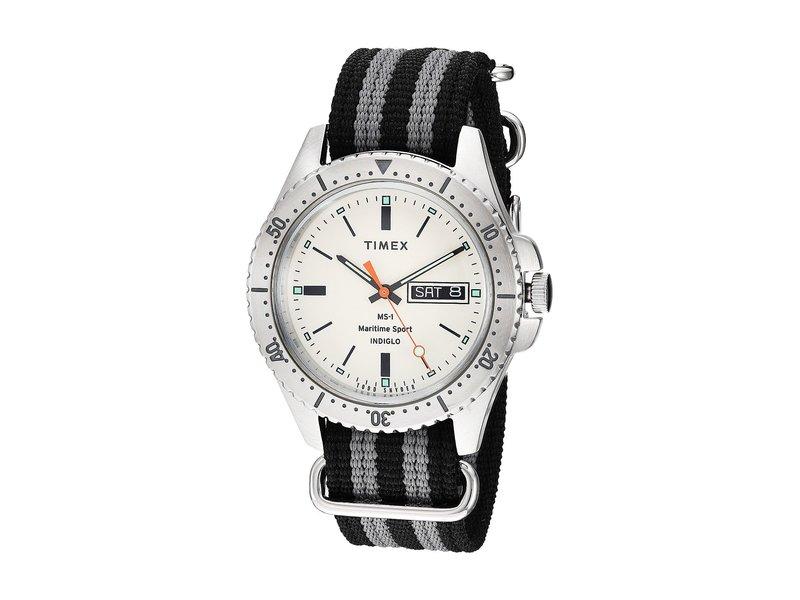 タイメックス メンズ 腕時計 アクセサリー Todd Snyder Maritime Sport 41mm White/Black/Gre