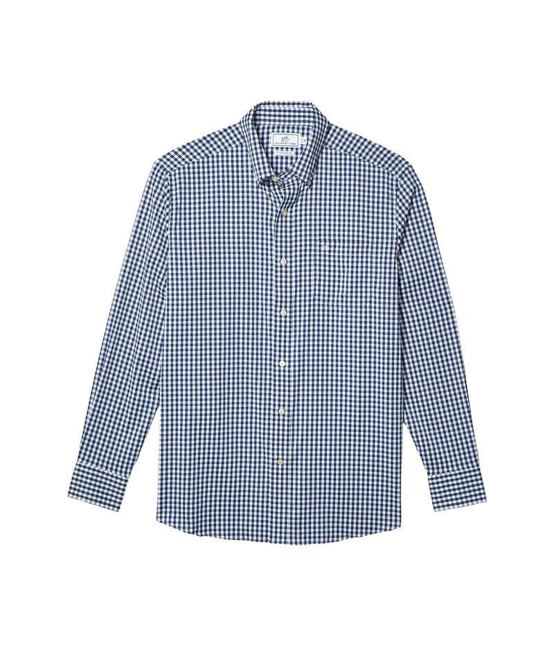 サウザーンタイド メンズ シャツ トップス Gingham Intercoastal Sport Shirt Yacht Blue