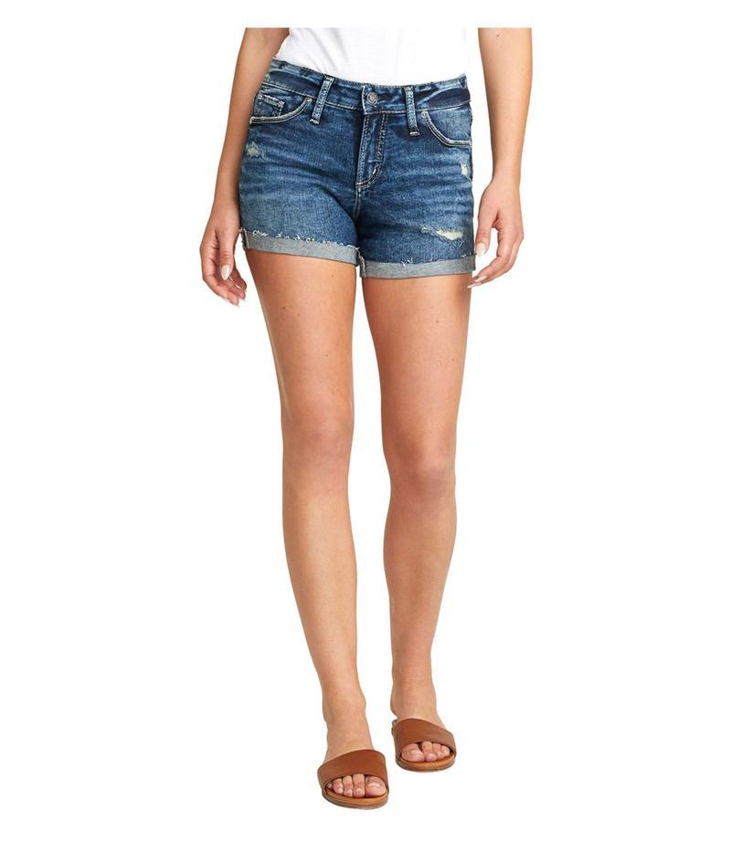 シルバー ジーンズ レディース ハーフパンツ・ショーツ ボトムス Suki Mid-Rise Curvy Fit Shorts L53960SGX351 Indigo
