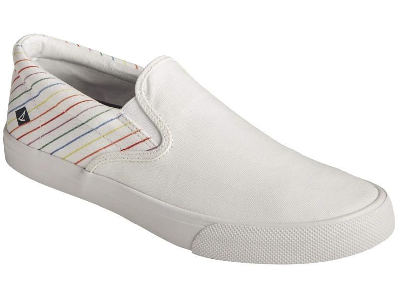 スペリー メンズ スニーカー シューズ Striper II Slip-On Pride White