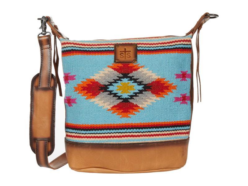 エスティエスランチウェア レディース ハンドバッグ バッグ Saltillo Mail Bag Light Blue/Oran
