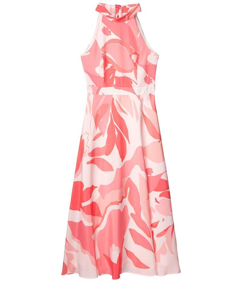 タハリ レディース ワンピース トップス Sunburst Charmeuse Floral Maxi Halter Dress Pink Swirl
