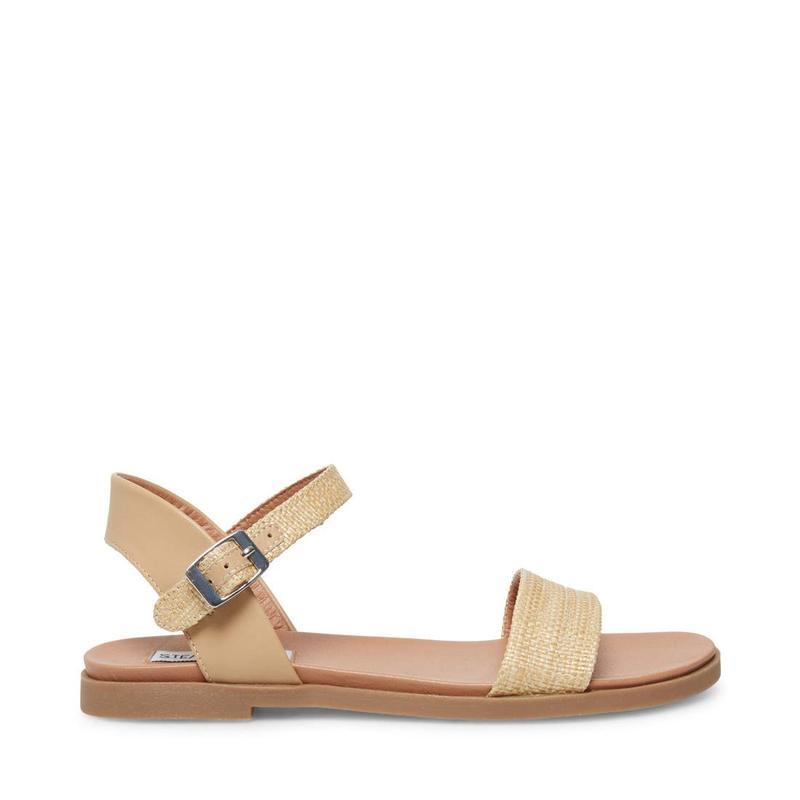 スティーブ マデン レディース サンダル シューズ Dina Flat Sandals Natural Raffia