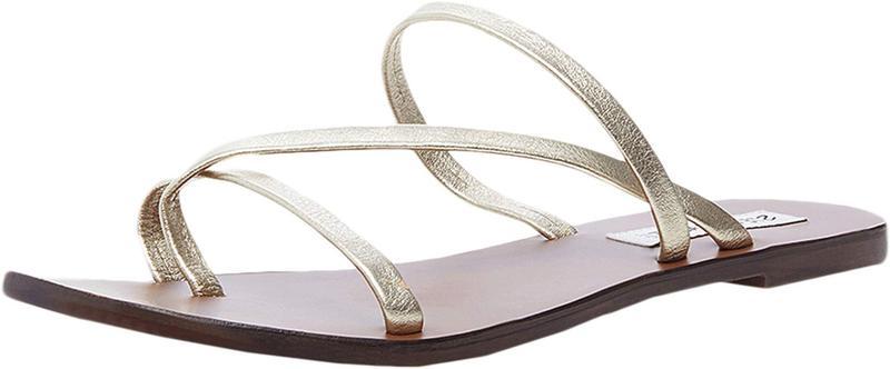 スティーブ マデン レディース サンダル シューズ Janessa Flat Sandal Gold Leather