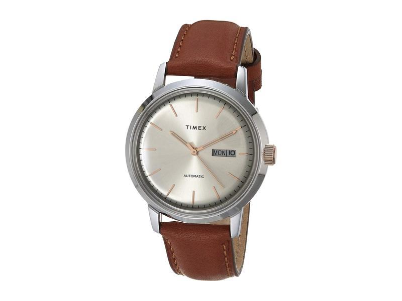タイメックス メンズ 腕時計 アクセサリー 40 mm Marlin Auto Silver/Ivory/Ta