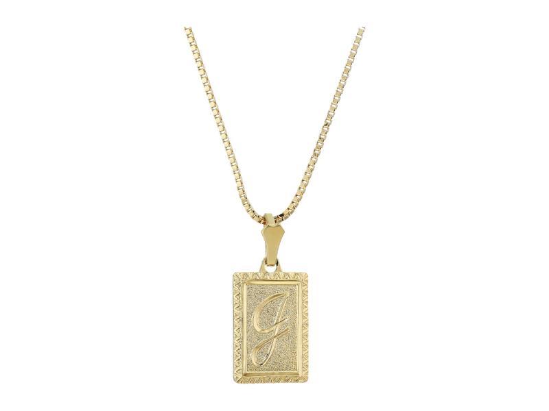 バネッサモーネイ レディース ネックレス・チョーカー・ペンダントトップ アクセサリー The London Initial Necklace Gold/J