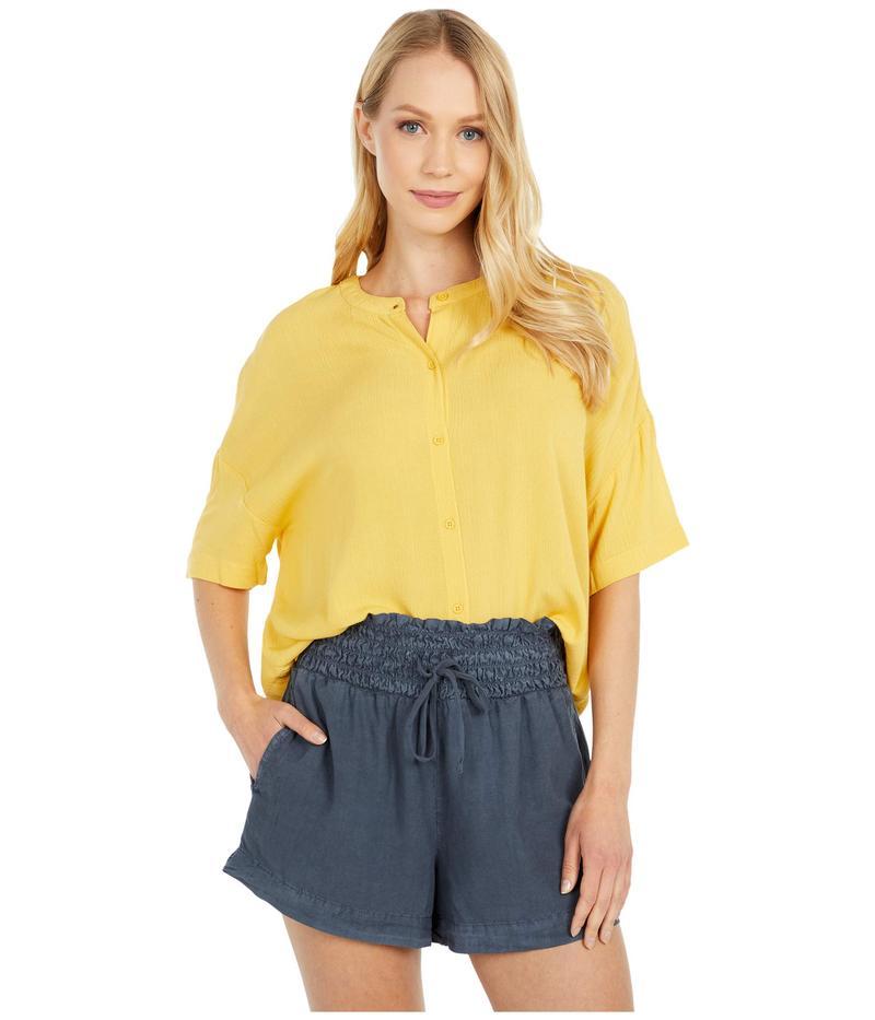 ビービーダコタ レディース シャツ トップス Across The Way Crinkle Rayon Button Front Top Lemon Drop