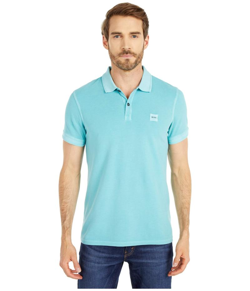 ヒューゴボス メンズ シャツ トップス Prime Polo Turquoise/Aqua