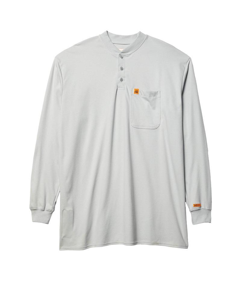 ラングラー メンズ シャツ トップス Big & Tall Flame-Resistant Long Sleeve Henley Grey