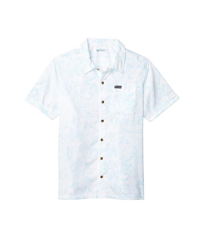 コロンビア メンズ シャツ トップス Outdoor Elements¢ Short Sleeve Print Shirt Sky Blue Wild T