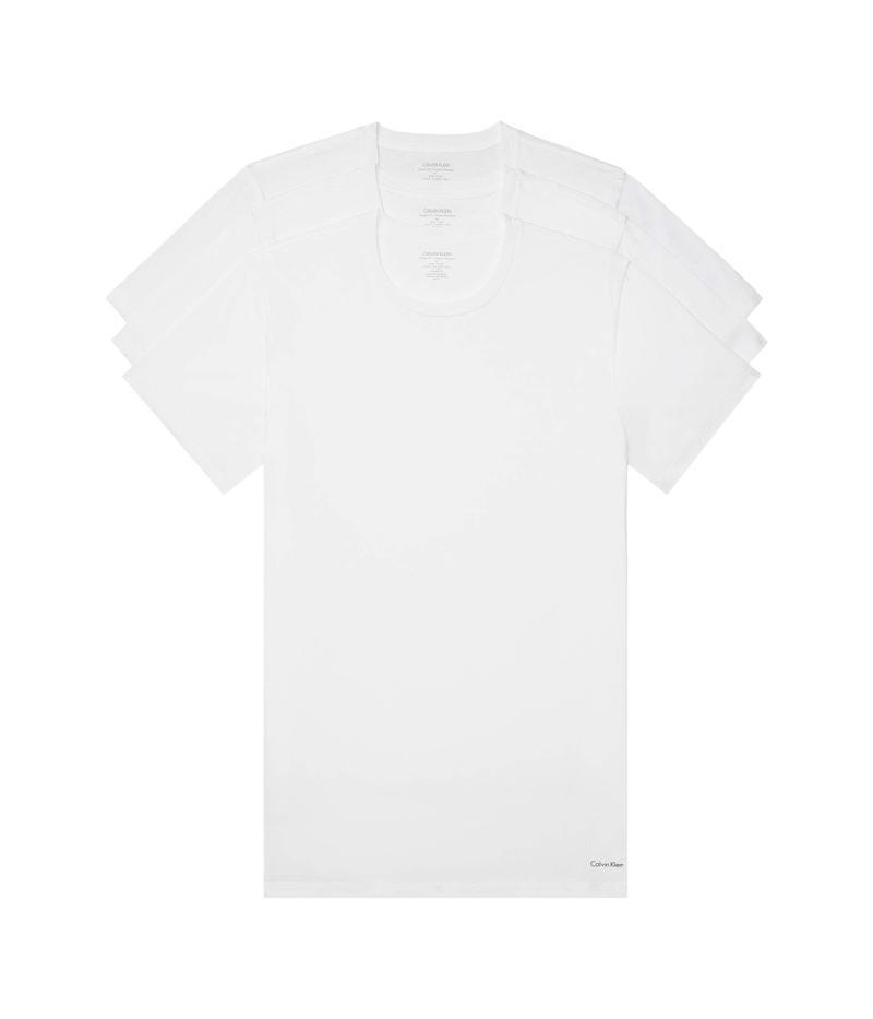 カルバン クライン アンダーウェア メンズ シャツ トップス Cotton Classics Multipack Short Sleeve Crew White
