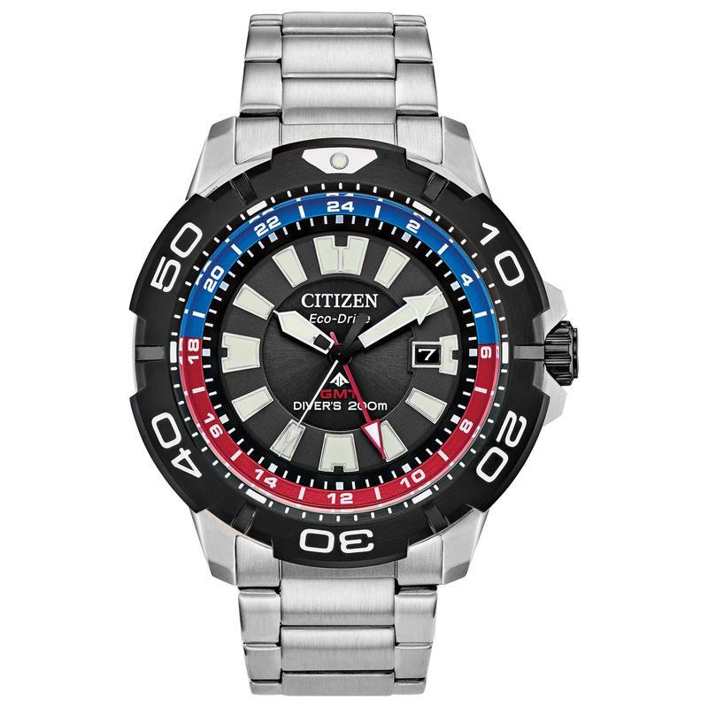 シチズンウォッチ メンズ 腕時計 アクセサリー Promaster Diver BJ7128-59E Silver-Tone