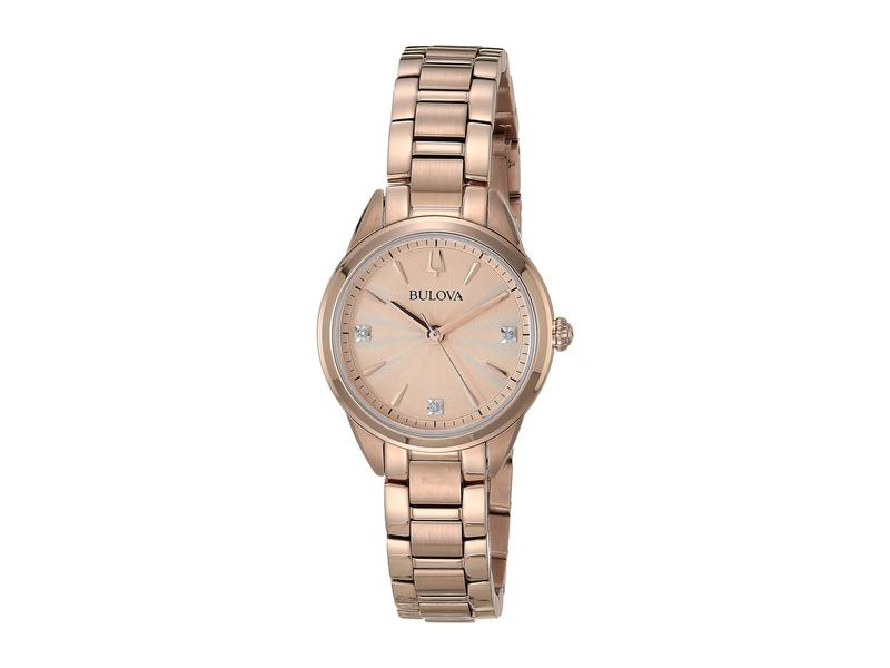 ブロバ メンズ 腕時計 アクセサリー Classic Sutton Diamonds - 97P151 Rose Gold
