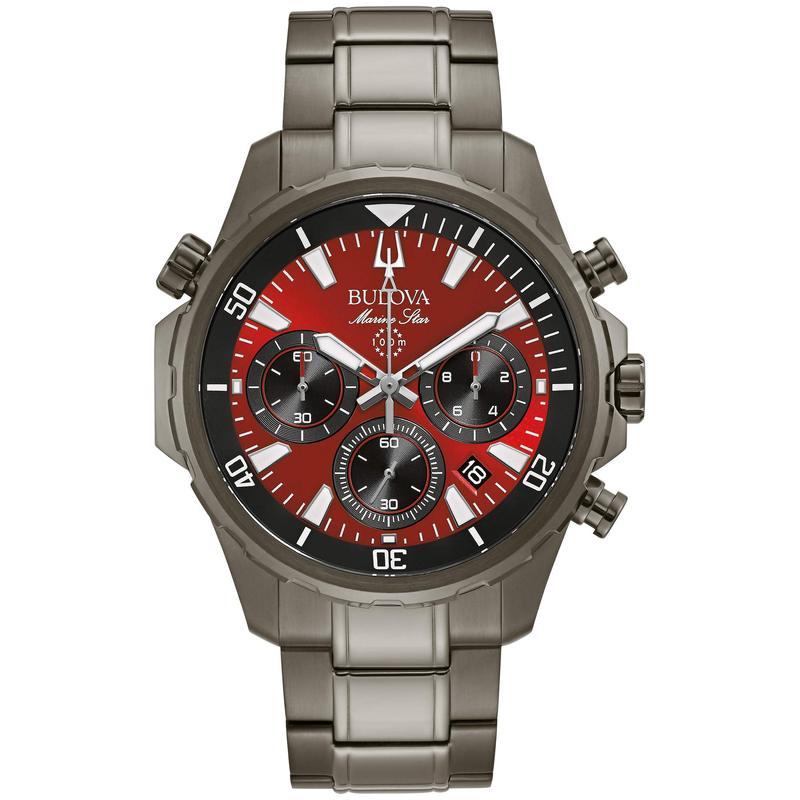 ブロバ メンズ 腕時計 アクセサリー Marine Star - 98B350 Gunmetal
