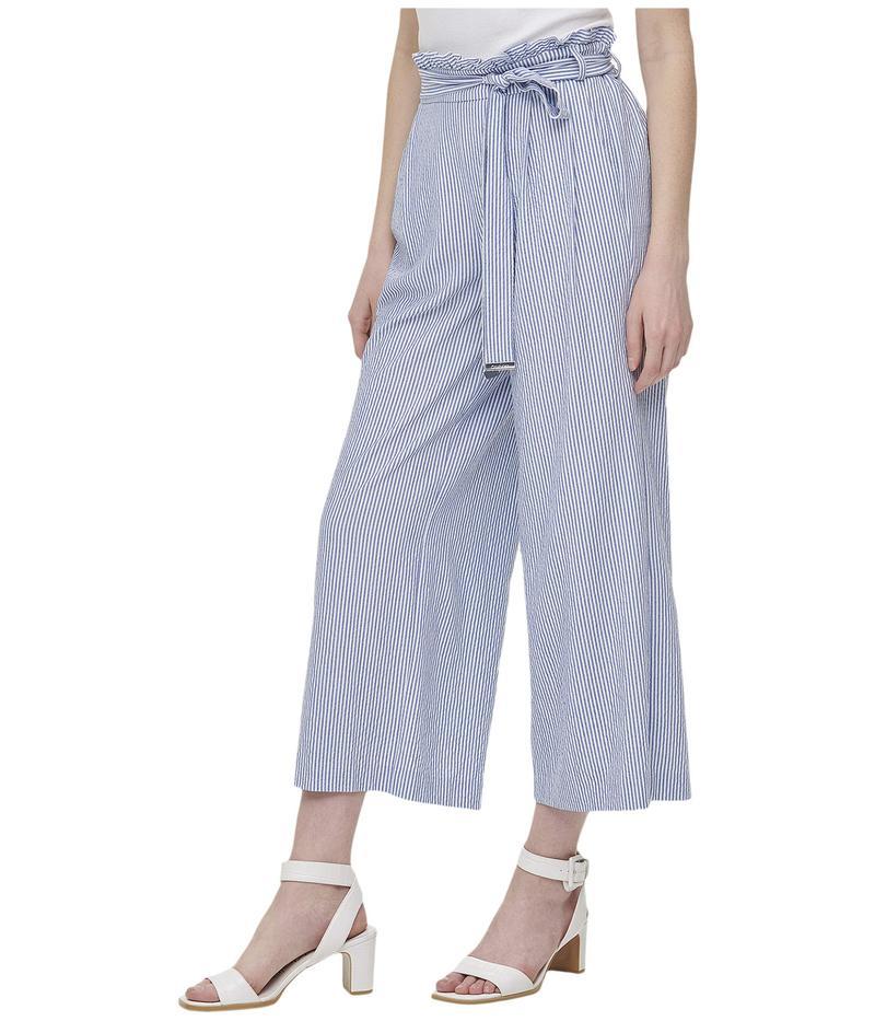 カルバンクライン レディース カジュアルパンツ ボトムス Wide Leg Pants Blue White Comb