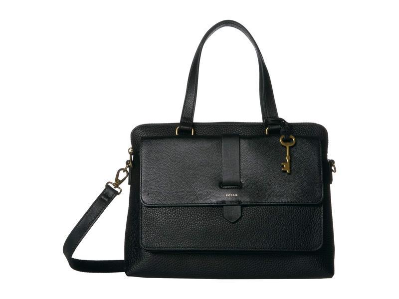フォッシル レディース ハンドバッグ バッグ Kinley Satchel Handbag Black