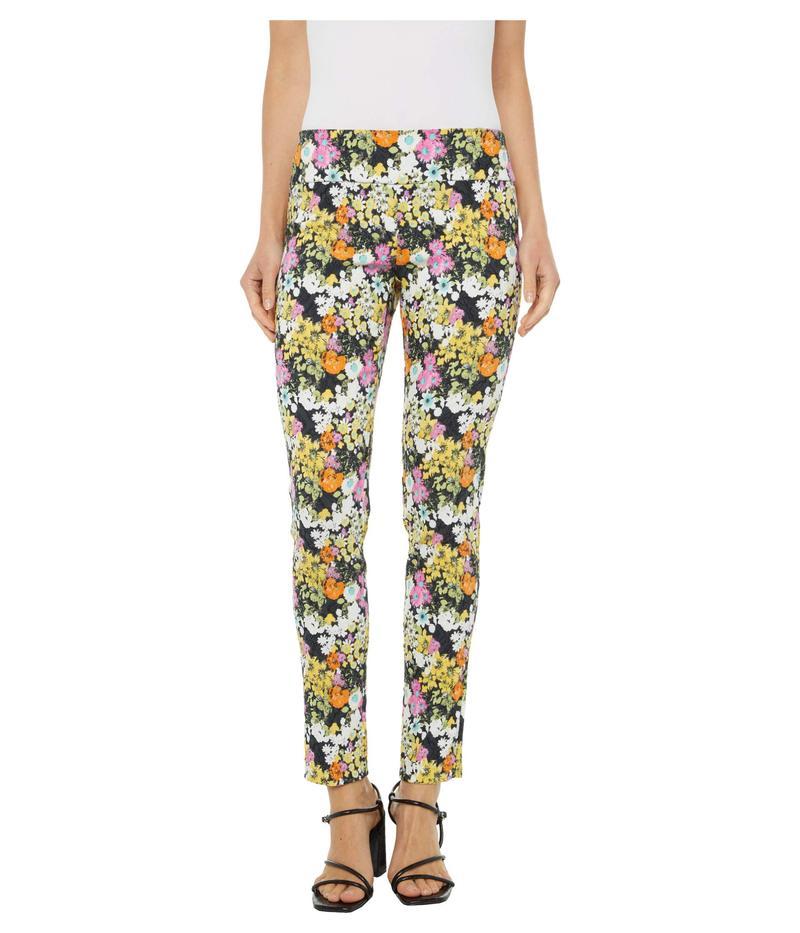エリオットローレン レディース カジュアルパンツ ボトムス Petal Pusher Pull-On Ankle Pants with Back Slit Detail Pink Multi