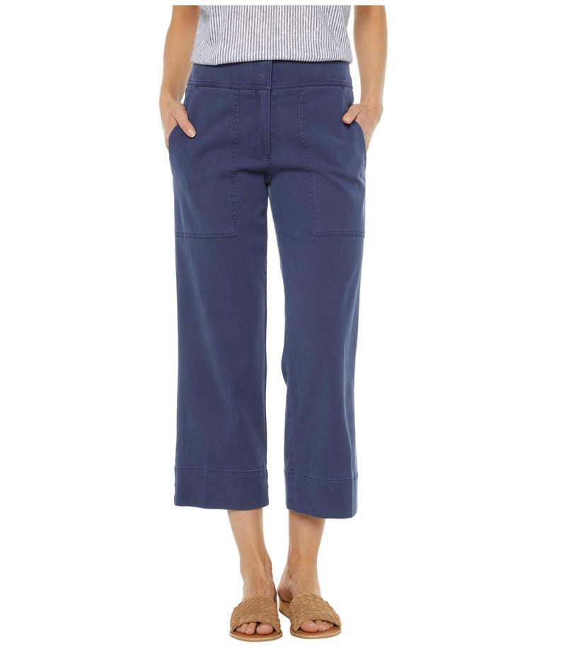 エリオットローレン レディース カジュアルパンツ ボトムス Pigment Dye Fly Front Crop Pants with Patch Pockets Blue
