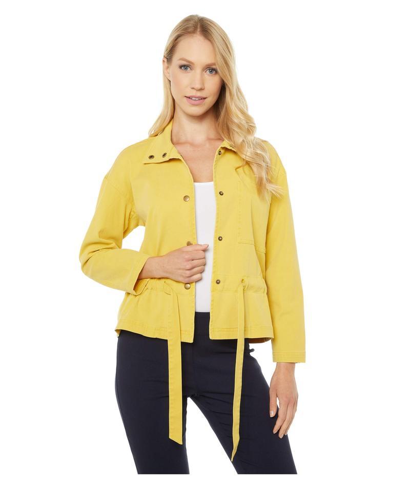 エリオットローレン レディース コート アウター Pigment Dye Tie Detail Jacket with Snap Closure Yellow 通勤 敬老の日 当店人気 おすすめ おしゃれ トレンド