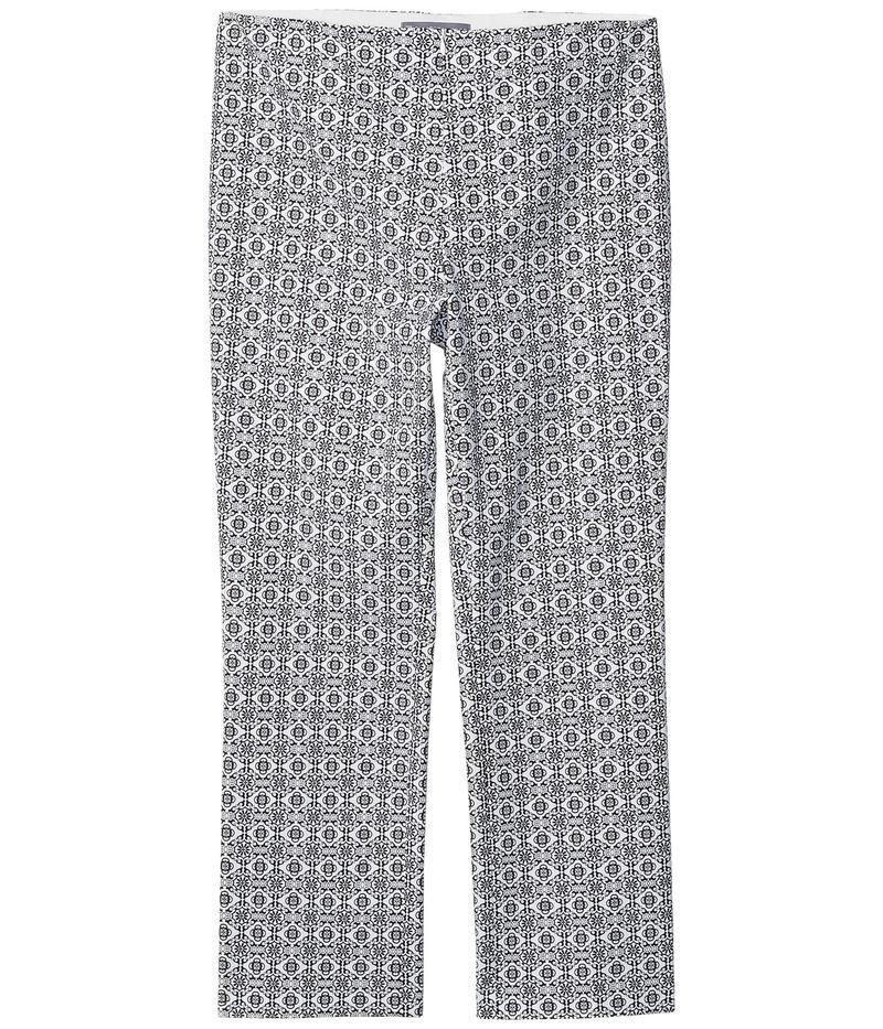 エリオットローレン レディース カジュアルパンツ ボトムス Tile Prints Invisible Zipper Ankle Pants Black/White