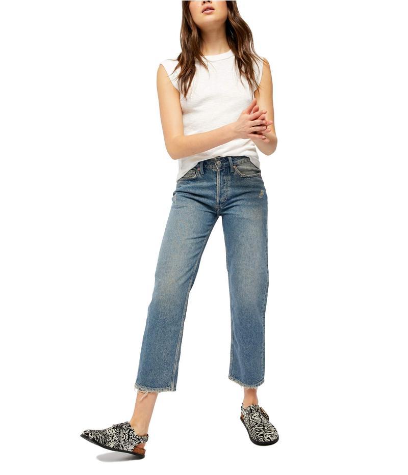 フリーピープル レディース デニムパンツ ボトムス Fast Times High-Rise Mom Jeans Indigo Blue
