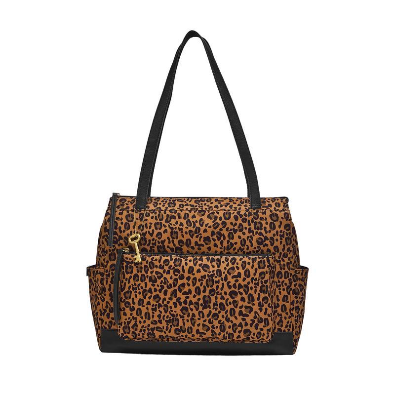 フォッシル レディース ハンドバッグ バッグ Jenna Shopper Cheetah
