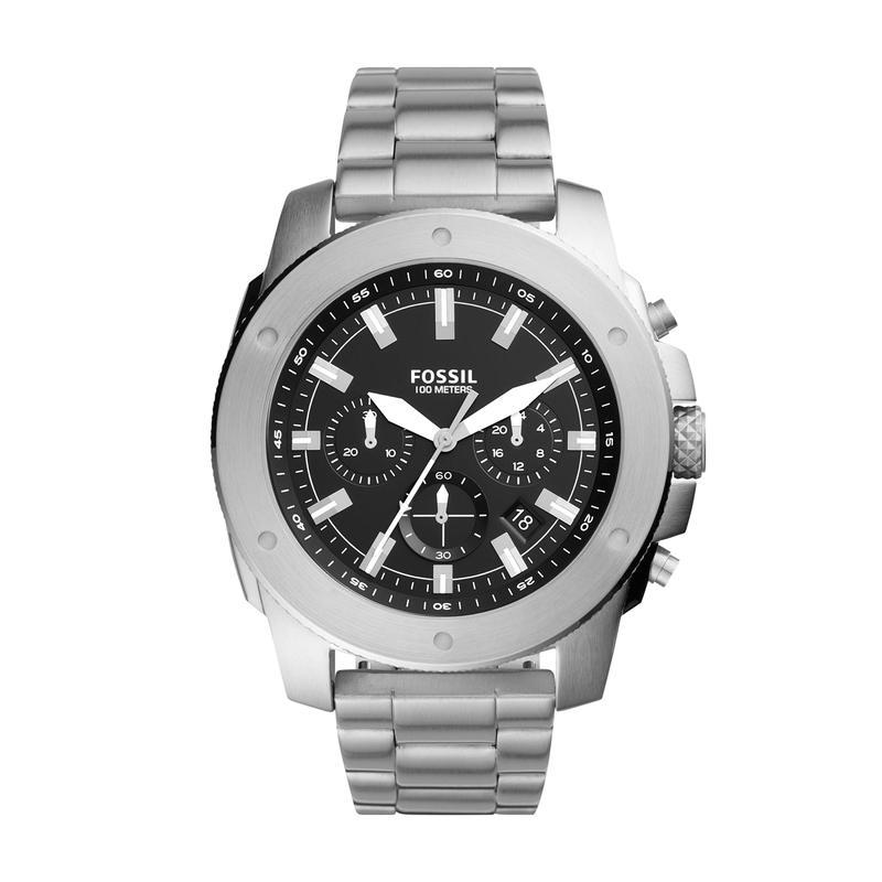 フォッシル メンズ 腕時計 アクセサリー Mega Machine Chronograph Watch FS5716 Silver/B