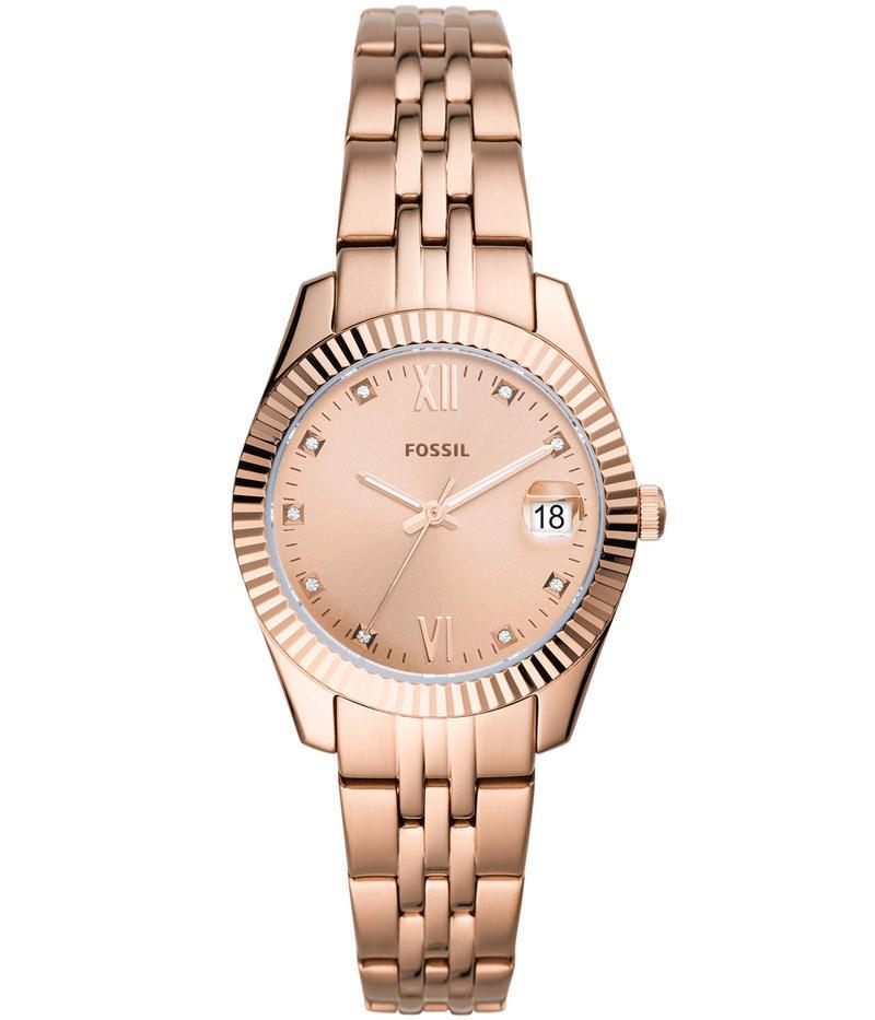 フォッシル レディース 腕時計 アクセサリー Scarlette Mini Three-Hand Watch Es4898 Rose Gol