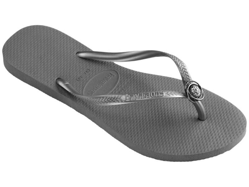 ハワイアナス レディース サンダル シューズ Slim Crystal Rings Sandal Steel Grey