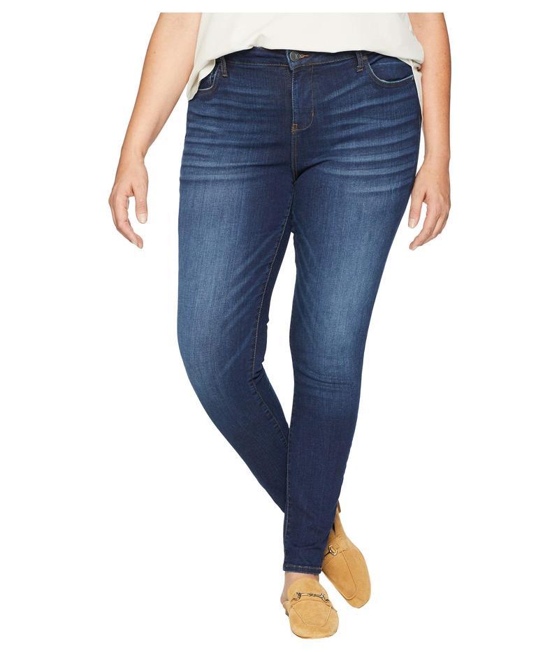 カットフロムザクロス レディース デニムパンツ ボトムス Plus Size Mia High-Waist Skinny Jeans in Goodly Goodly/Dark Sto