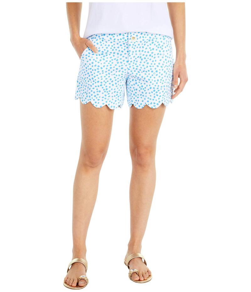 リリーピュリッツァー レディース ハーフパンツ・ショーツ ボトムス Buttercup Stretch Shorts Zanzibar Blue L