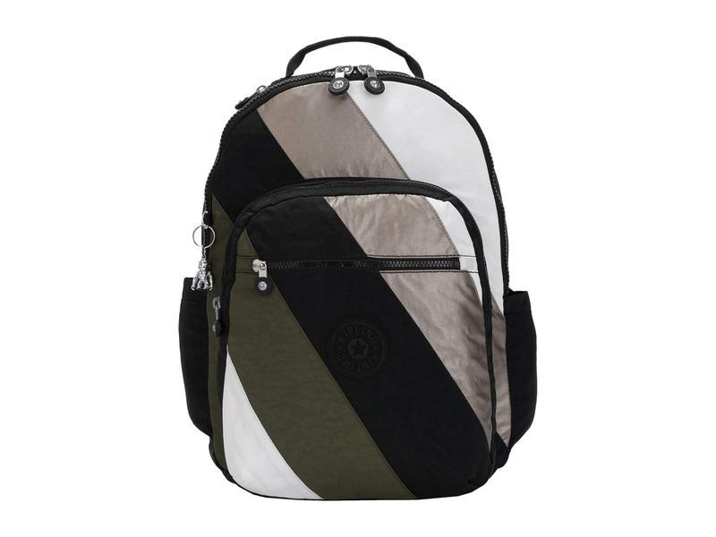 キプリング レディース バックパック・リュックサック バッグ Seoul Laptop Backpack Black Mix Block