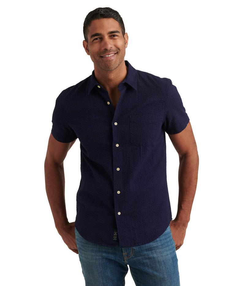 ラッキーブランド メンズ シャツ トップス San Gabriel One-Pocket Short Sleeve Shirt Evening Blue