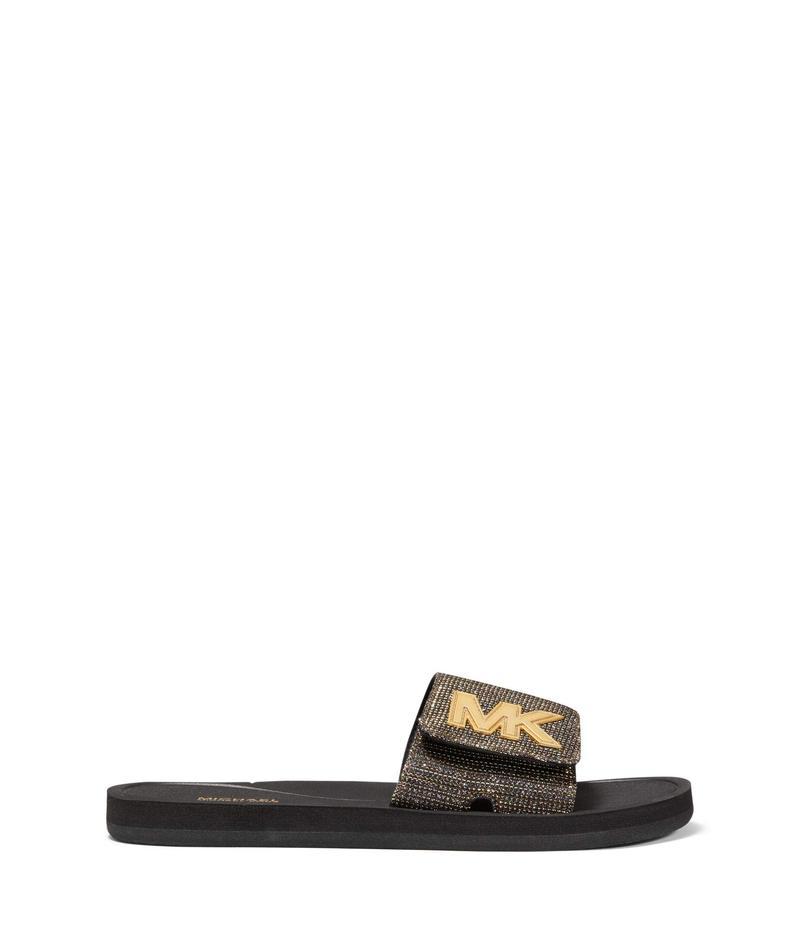 マイケルコース レディース サンダル シューズ MK Slide Black 1