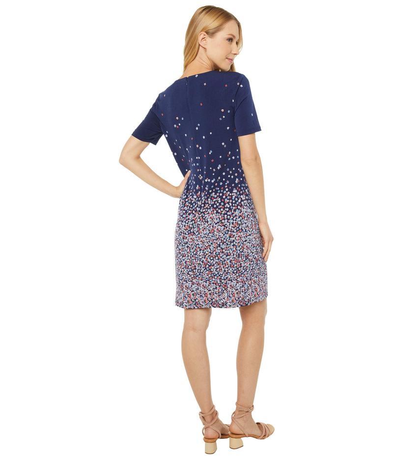 マイケルコース レディース ワンピース トップス Short Sleeve Ombre Bloom Dress Coral PeyYI7bf6vg