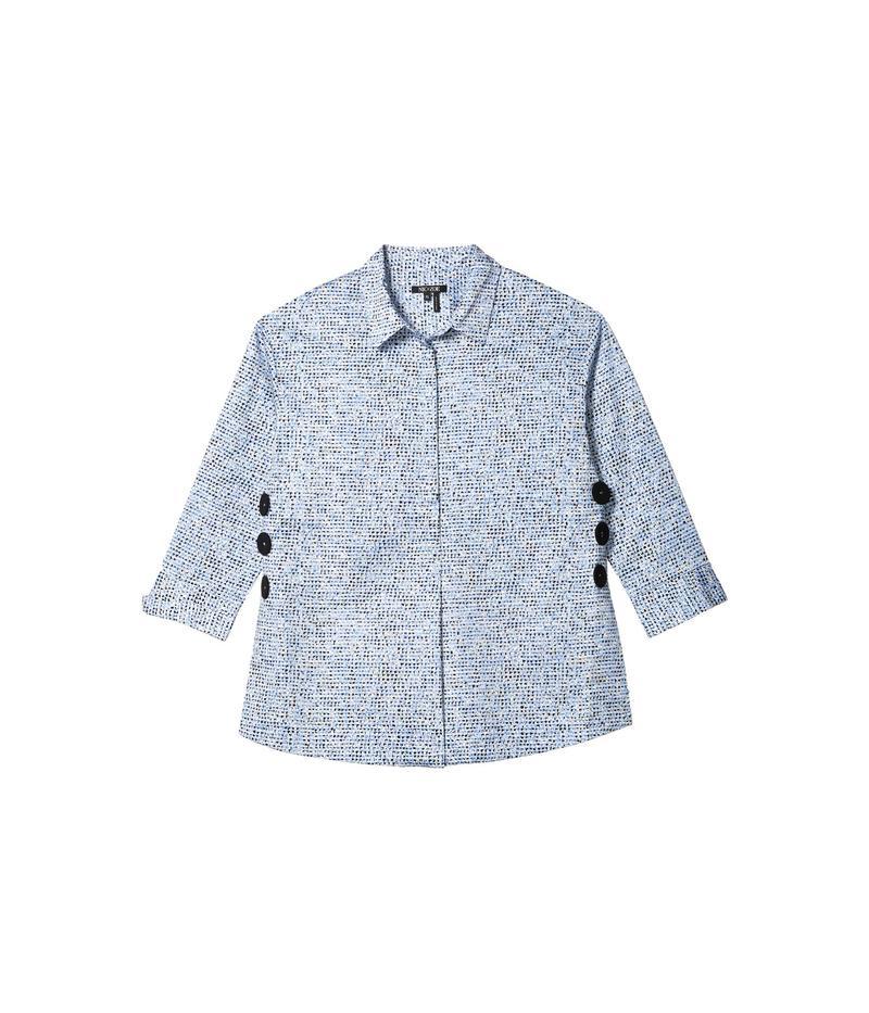 ニックプラスゾーイ レディース シャツ トップス Petite Naples Tunic Shirt Blue Multi