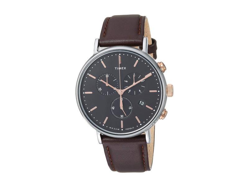 タイメックス メンズ 腕時計 アクセサリー Fairfield Chrono Black/Brown