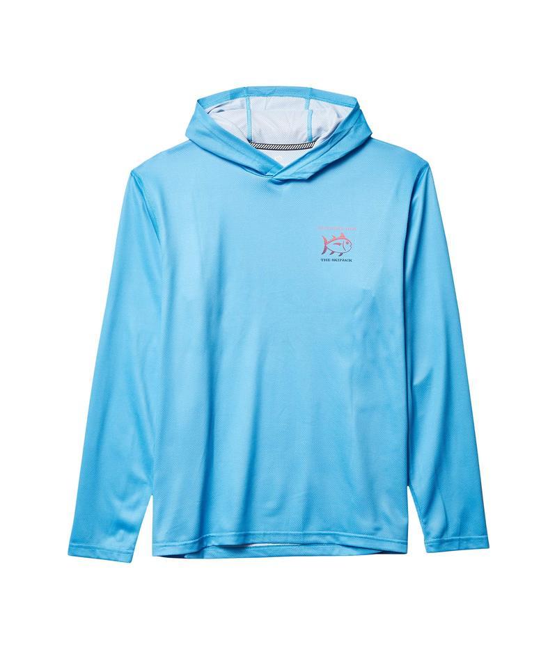 サウザーンタイド メンズ パーカー・スウェット アウター Ombre Skipjack Performance Hoodie T-Shirt Shoreline Blue