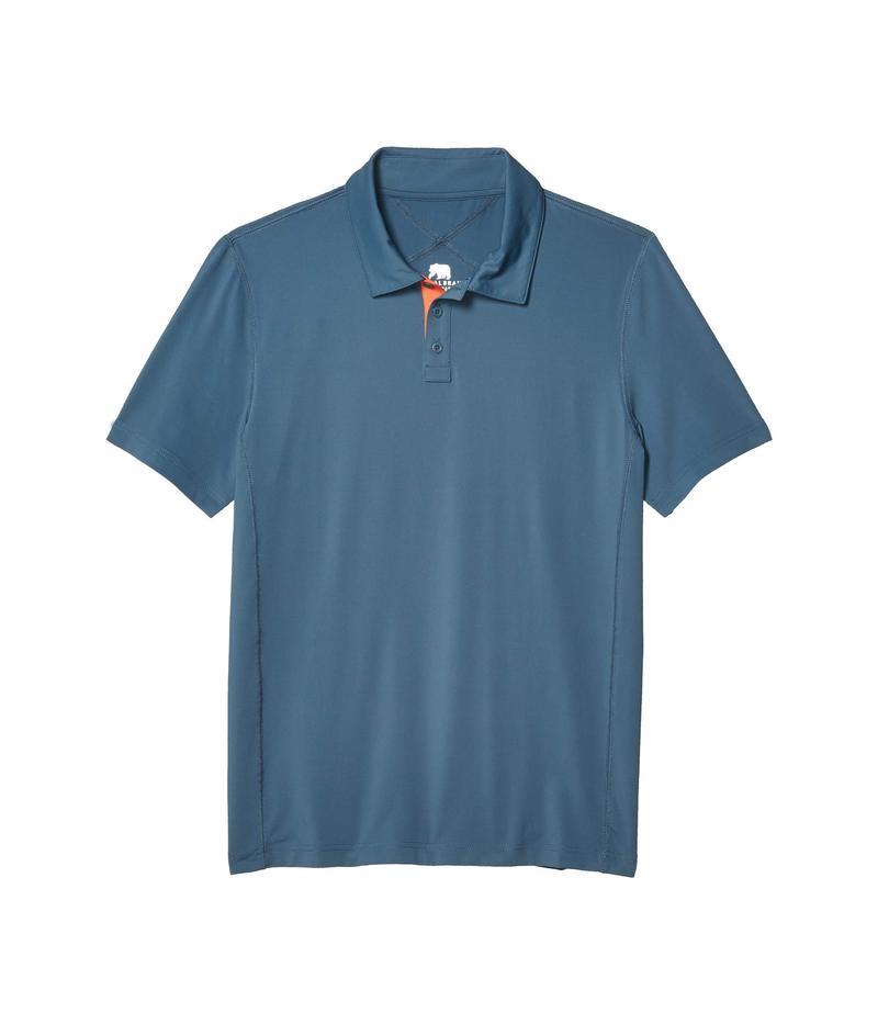 ノーマルブランド メンズ シャツ トップス Cross-Back Seamed Performance Polo Mineral Blue