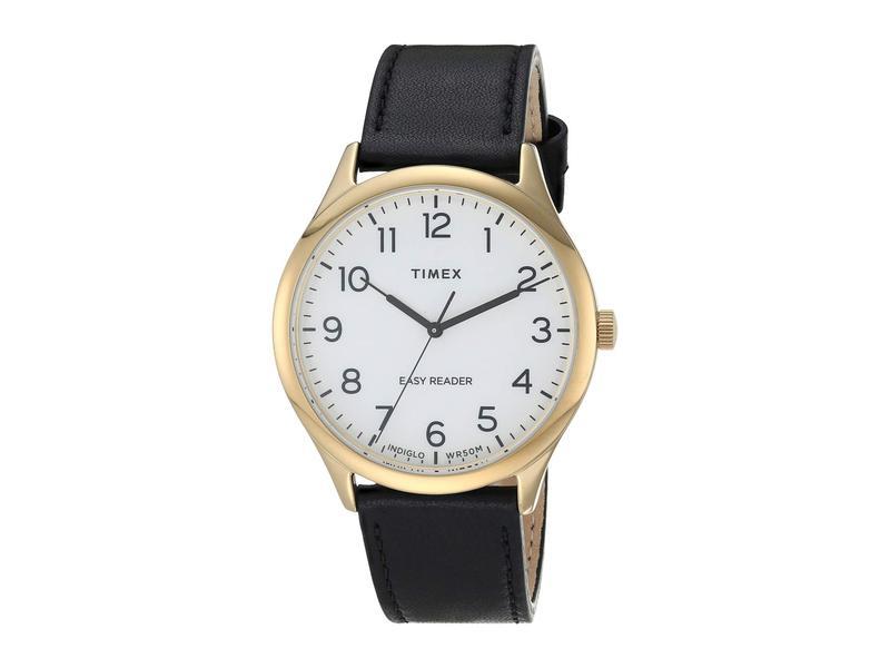 タイメックス メンズ 腕時計 アクセサリー 40 mm Easy Reader Gold/White/Brow