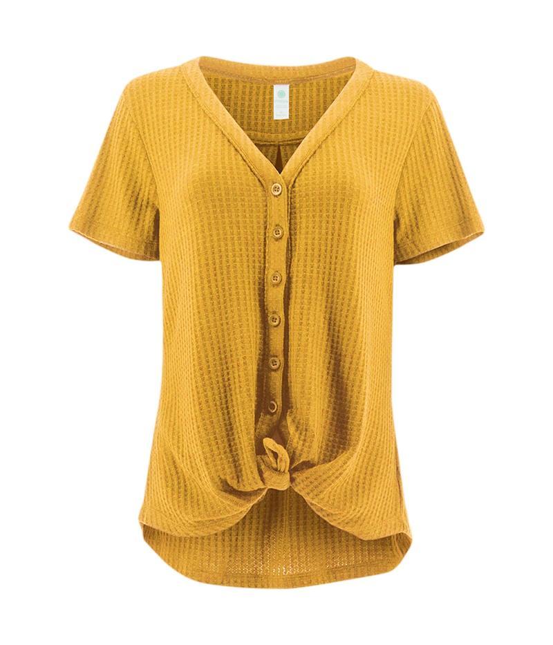 アベンチュラ レディース シャツ トップス Ayla Short Sleeve Goldon Apricot