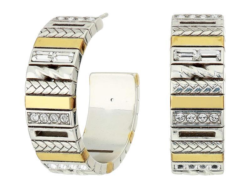 ブライトン レディース ピアス・イヤリング アクセサリー Tapestry Post Hoop Earrings Silver/Gold